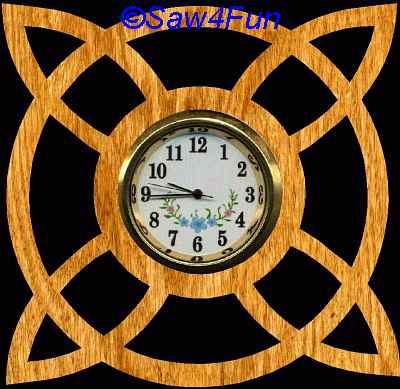 Geometric 19 Clock Scroll Saw Pattern
